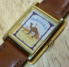 Camel Men Hot Style Gold Tone Rectangle Swiss Parts Quartz Watch Hour~Ne... - $21.84