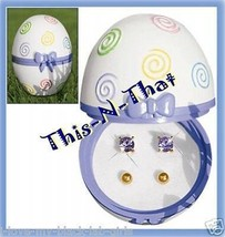 Earring Easter Egg Box with 2 pairs Earrings NEW For Spring - $14.80