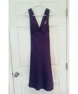 Calvin Klein Satin A-Line Dress Size 8 Purple Criss Cross Strap NWT Reta... - $44.52