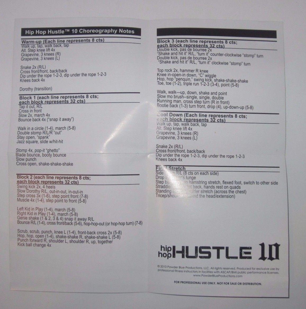 HIP HOP HUSTLE Vol. 10 Workout DVD - Chalene Johnson - Powder Blue Productions!