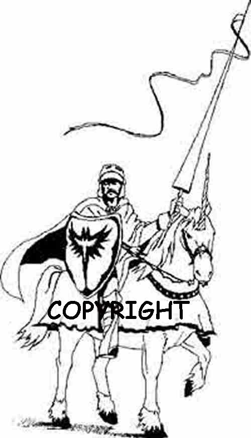 WHITE KNIGHT AND STEED new mounted rubber stamp