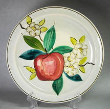 """Red Wing Normandy Dinner Plate 10.25"""" Apple Blossoms Hand Painted - $6.00"""