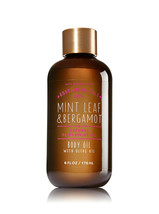 BATH & BODY WORKS Mint Leaf & Bergamot 6.0 Fluid Ounces Body Oil - $17.08