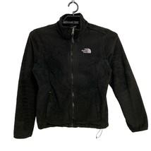 Women's THE NORTH FACE Osito Fleece BLACK Jacket Full Zip Size M - $37.62