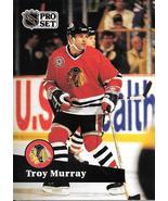 Troy Murray ~ 1991-92 Pro Set #46 ~ Blackhawks - $0.05