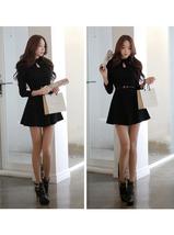New Women Elegant Korean Spring Fashion Slim Autumn Long Sleeve Black Mi... - £11.65 GBP