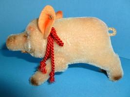 Vintage Steiff Toy Pig Stuffed Animal Germany - $125.00