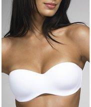 Dominique Seamless Strapless Bra, 44D, White - $37.65