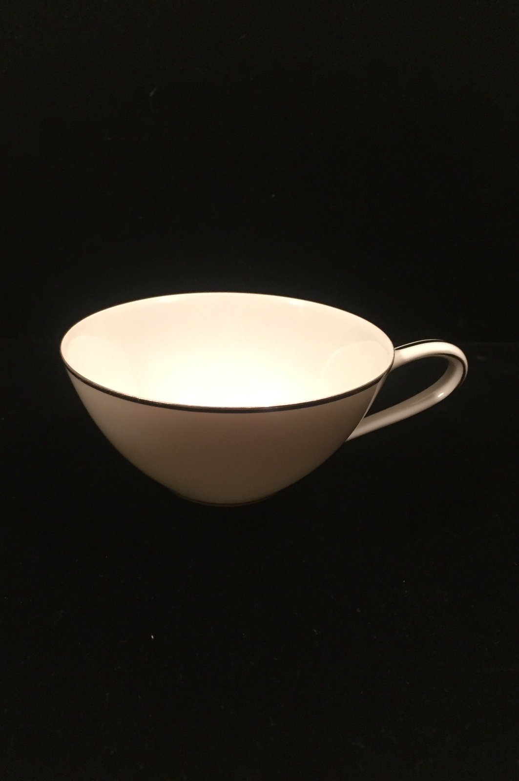Noritake Colony pattern 5932 tea cup - Vintage 50s flat cup with platinum trim