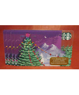 Lot of 4 Starbucks, 2017 Purple Christmas Gift Cards New Unused with Tags - $16.85
