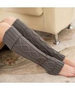 Women Thigh High Leg Warmers Knit Boot Cuffs Leg Gaiter Geometric Boots ... - $11.50