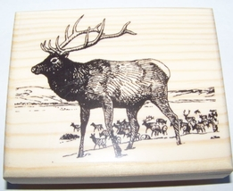 ELK HERD new mounted rubber stamp - $9.00