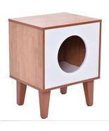 Cat Box Cushion Bed Cleaning Enclosure Hidden P... - $31.99