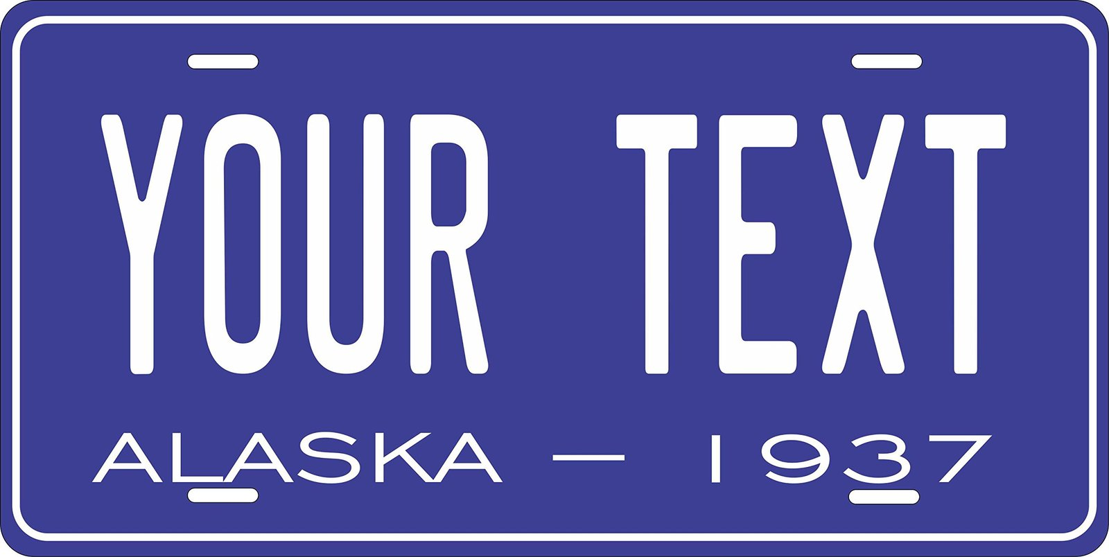 Alaska 1937 Personalized Tag Vehicle Car Auto License Plate