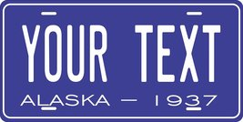 Alaska 1937 Personalized Tag Vehicle Car Auto License Plate - $16.75