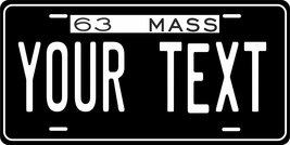 Massachusetts 1963 Personalized Tag Vehicle Car Auto License Plate - $16.75