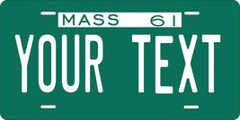 Massachusetts 1961 Personalized Tag Vehicle Car Auto License Plate - $16.75