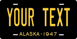 Alaska 1947 Personalized Tag Vehicle Car Auto License Plate - $16.75