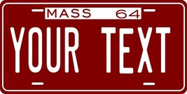Massachusetts 1964 Personalized Tag Vehicle Car Auto License Plate - $16.75