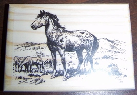 WILD HORSES new mounted rubber stamp - $8.50