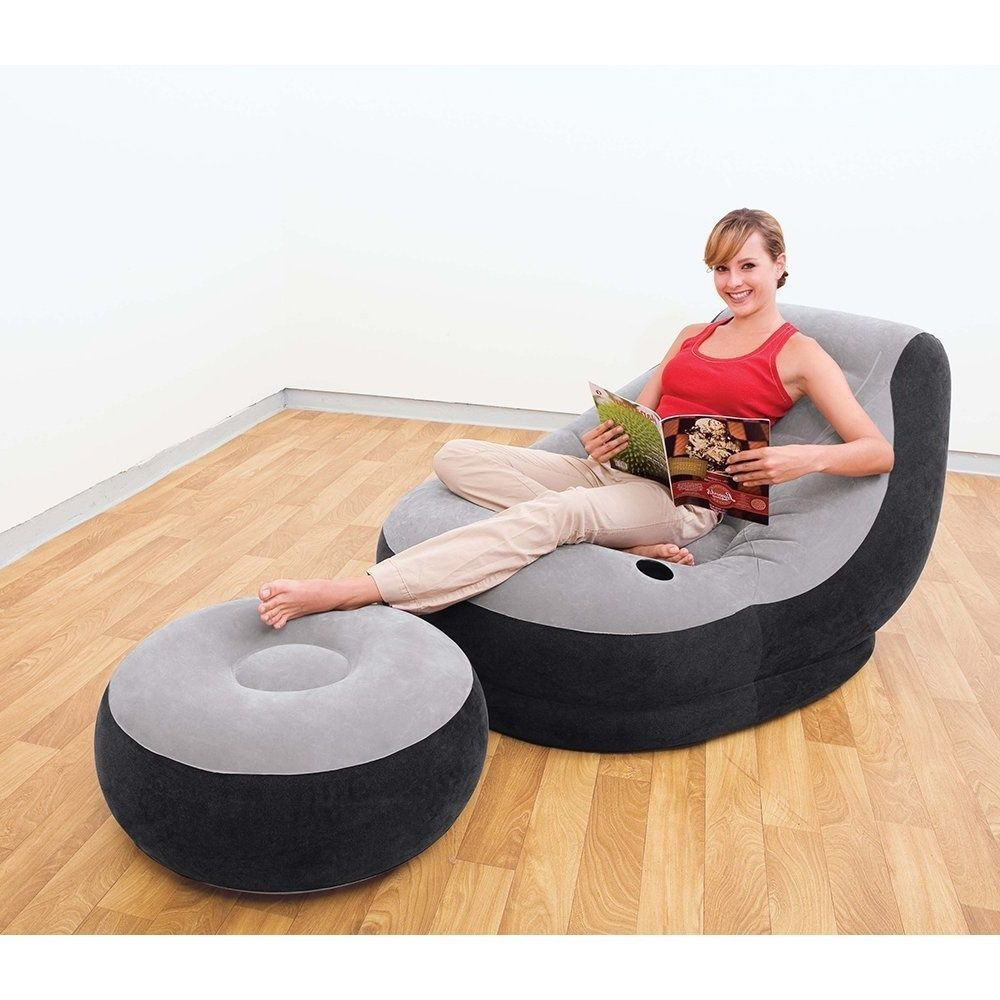 gaming patio chair ottoman inflatable ultra bean bag adult. Black Bedroom Furniture Sets. Home Design Ideas