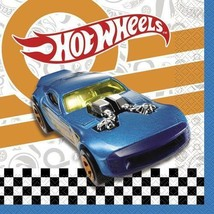 Hot Wheels Lunch Dinner Napkins 16 Count By Unique Happy Birthday Party Supplies - $5.89