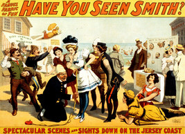 Vintage POSTER.Stylish Graphics.Have you seen Smith.New Jersey.Decor.586 - $10.89+