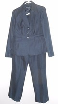 "Size 4 Two-piece Evan Picone Lined Suit Jacket Pants Dark Blue 29 1/2"" I... - $39.59"