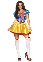 Leg Avenue Women's 2 Piece Fairytale Snow White Costume, Multi, Medium/L... - $44.60