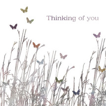 """THINKING OF YOU CARD """"BUTTERFLIES IN A FIELD"""" SIZE 6.25"""" x 6.25"""" AGOJ 9986 - $4.91"""