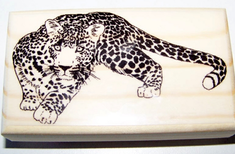 CHEETAH CUB mounted rubber stamp