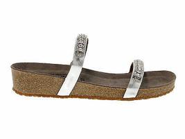 Flache Sandalen MEPHISTO IVANA N in nickel laminieren - Schuhe Damen - $126.53