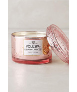 Voluspa Prosecco Rose Glass Maison Candle Anthr... - $23.50