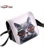 Petite Women's Tote Bag With Cat With Glasses Shoulder Bags PU Leather H... - £10.08 GBP
