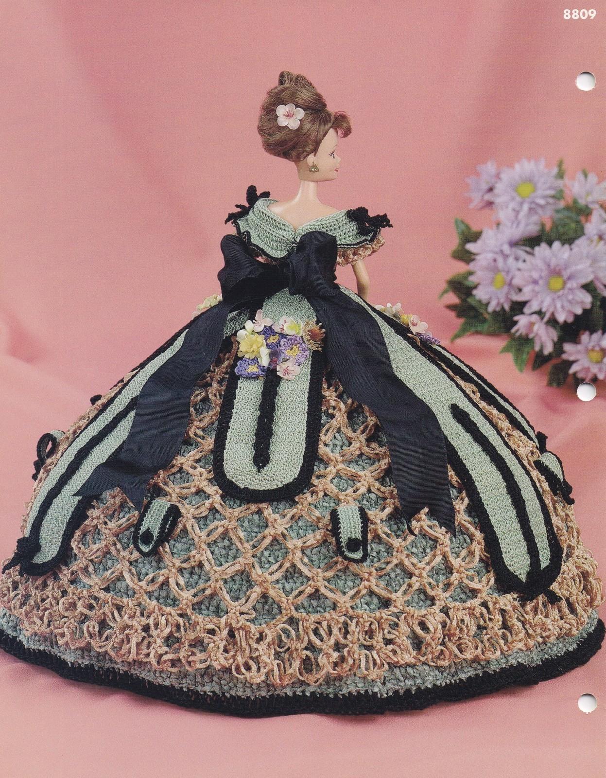Crochet Flower Shirt Pattern : Aster, Annies Glorious Gowns Flower Garden Doll Clothes ...