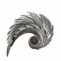 BOUCHER Signed Stamped Vintage Brooch Pin Silver  - $99.00