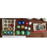 Vintage Christmas Ornaments Mini Christmas Bulbs in box - $24.99