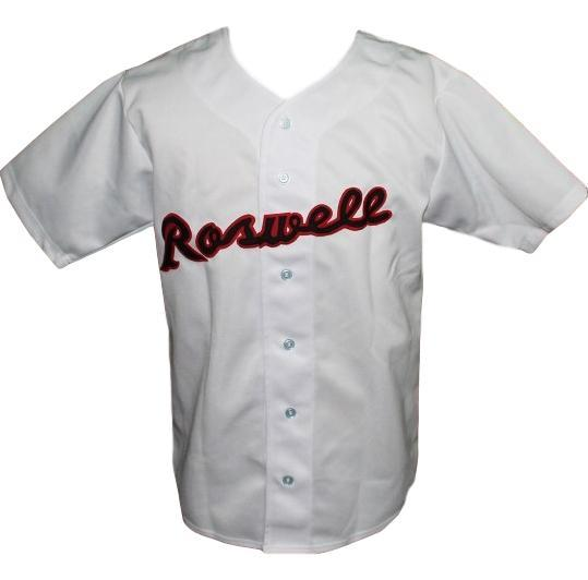 Joe bauman roswell rockets baseball jersey white   1