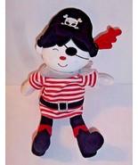 "Pirate Boy Plush Baby Gear Eye Patch Skull on Hat Figure Doll 12"" Length... - $16.78"