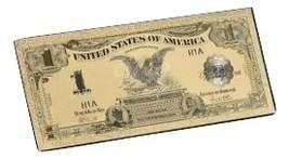 """1899 """"GOLD""""$1 SILVER CERTIFICATE BLACK EAGLE  Rep.*Banknote W/COA~STU - $12.00"""