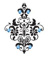 5 Flourish Flower with Gems-Digital Download-ClipArt-Art Clip-T-Shirt-Ba... - $3.00