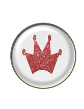 11 Crown Glitter Brad Glass-Digital Download-ClipArt-Art Clip-Banner-Par... - $3.00