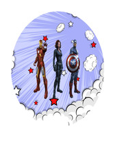 Avenger1A-Digital Immediate Download-ClipArt-Art Clip-Banner-Party-Backg... - $3.00