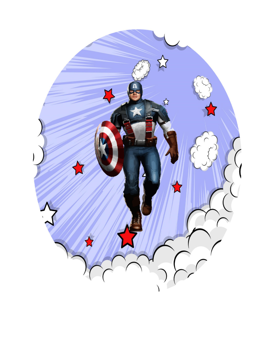 Avenger1A-Digital Immediate Download-ClipArt-Art Clip-Banner-Party-Background-Gi