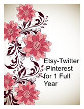 Etsy,Amazon and more-Twitter and Pinterest for ... - $20.00