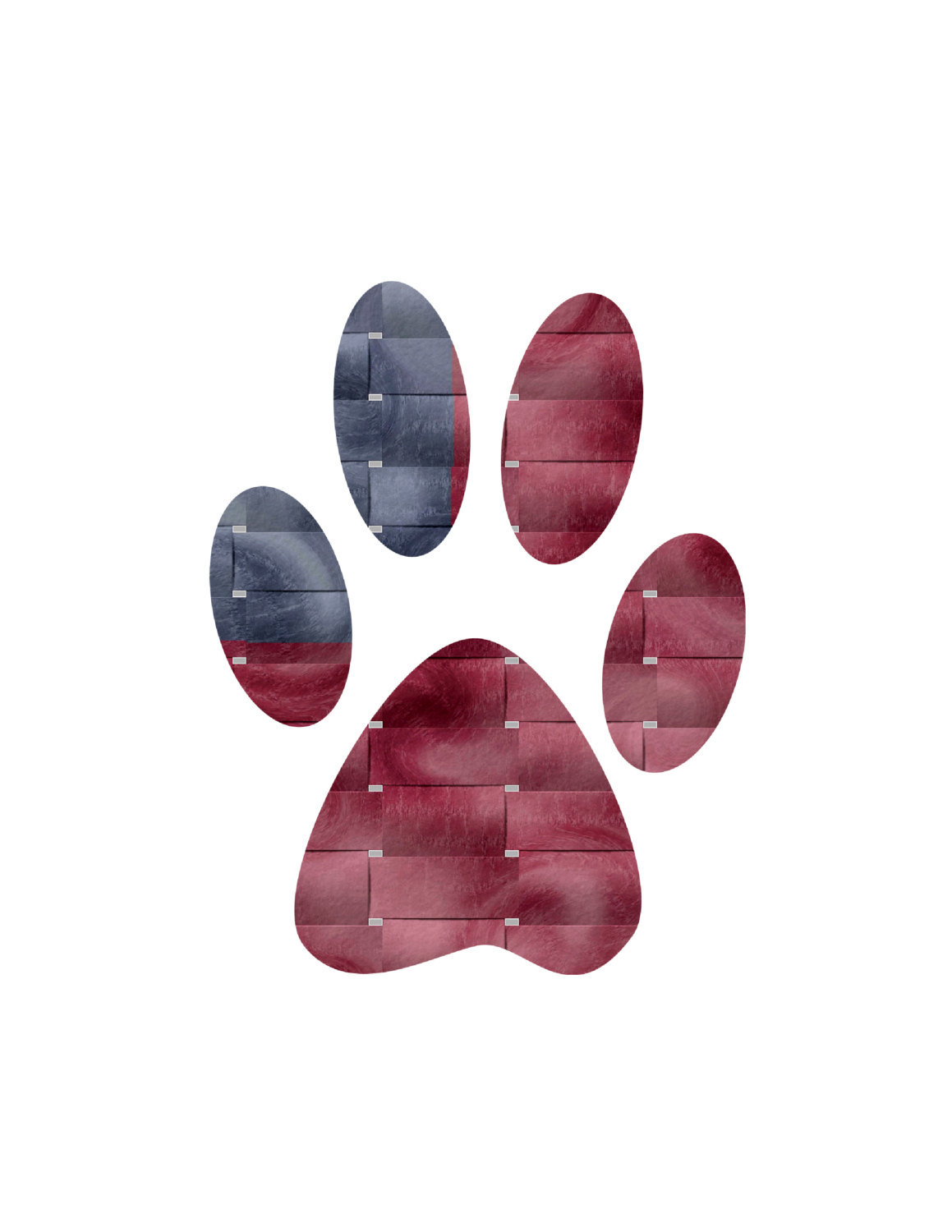 Pet Paws-Digital Immediate Download-Flag Paws-Holiday Paws-Background-Banner-Coa