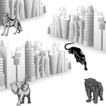 3d Industrial Skylines with Wild Animals-Digita... - $3.00
