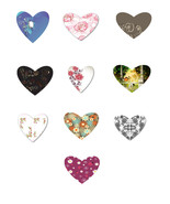 10 Flowers and Outdoor Hearts HB-Digital Download-ClipArt-Art Clip-Jewel... - $6.00
