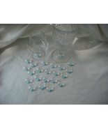 Set of 24 Blue/White Pearls Wine Glass Charms-Free Shipping. - $20.00