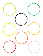 4 Scallop Circles-Digital Immediate Download-ClipArt-Art Clip-Party Tags - $3.00